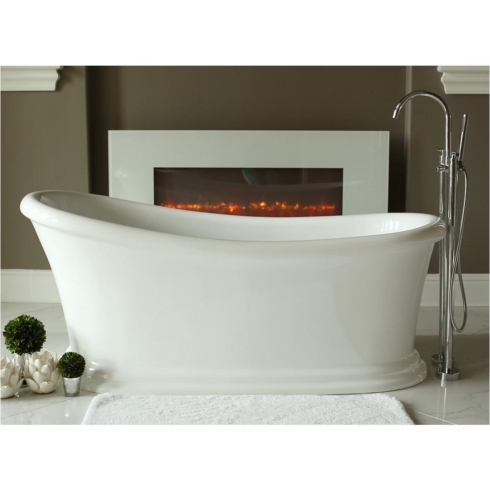 Freestanding Bathtub 58 Inches Pinnacle Journey 5 6 Ft Acrylic Slipper Flatbottom Non