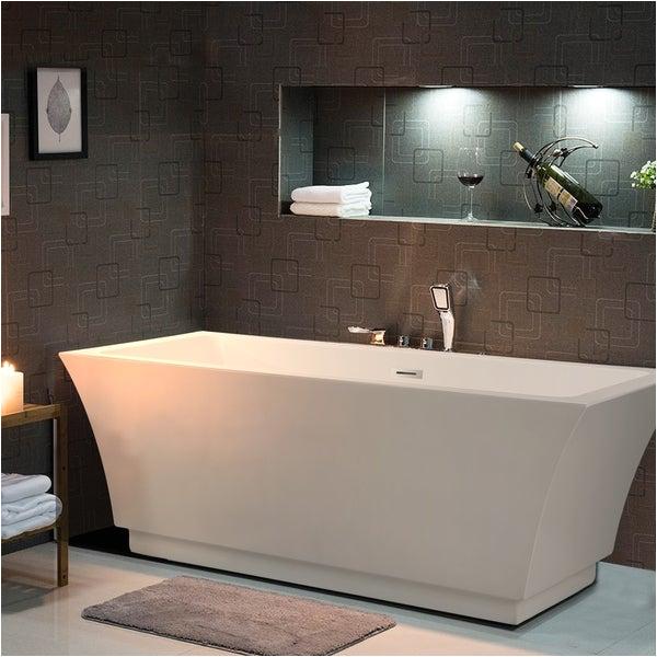 "Freestanding Bathtub 59 Inch Shop Vanity Art 59"" Freestanding Acrylic Bathtub Modern"