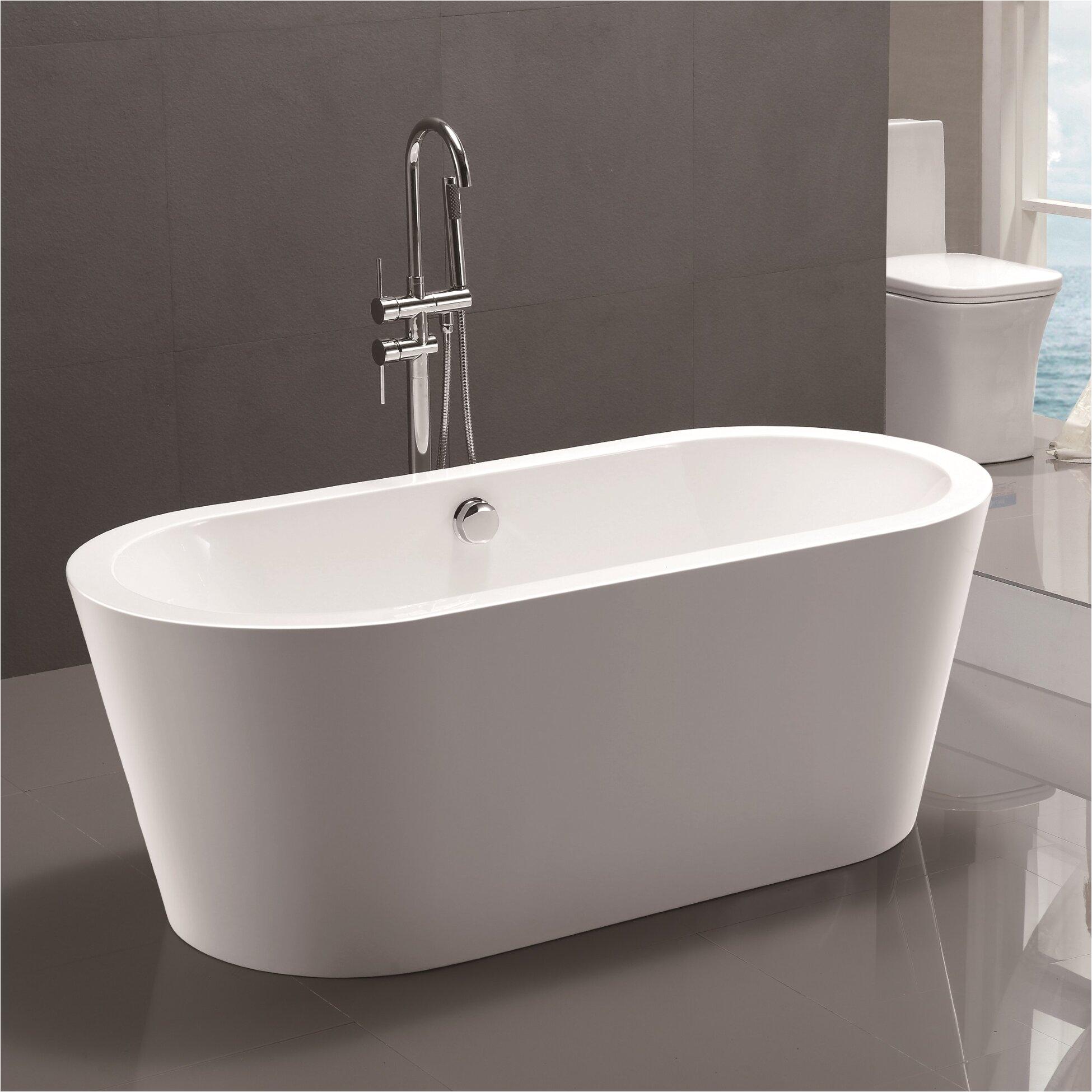 Vanity Art 59 x 24 Freestanding Soaking Bathtub VNAR1056