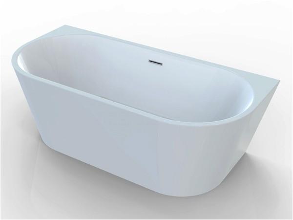 back to wall freestanding bath