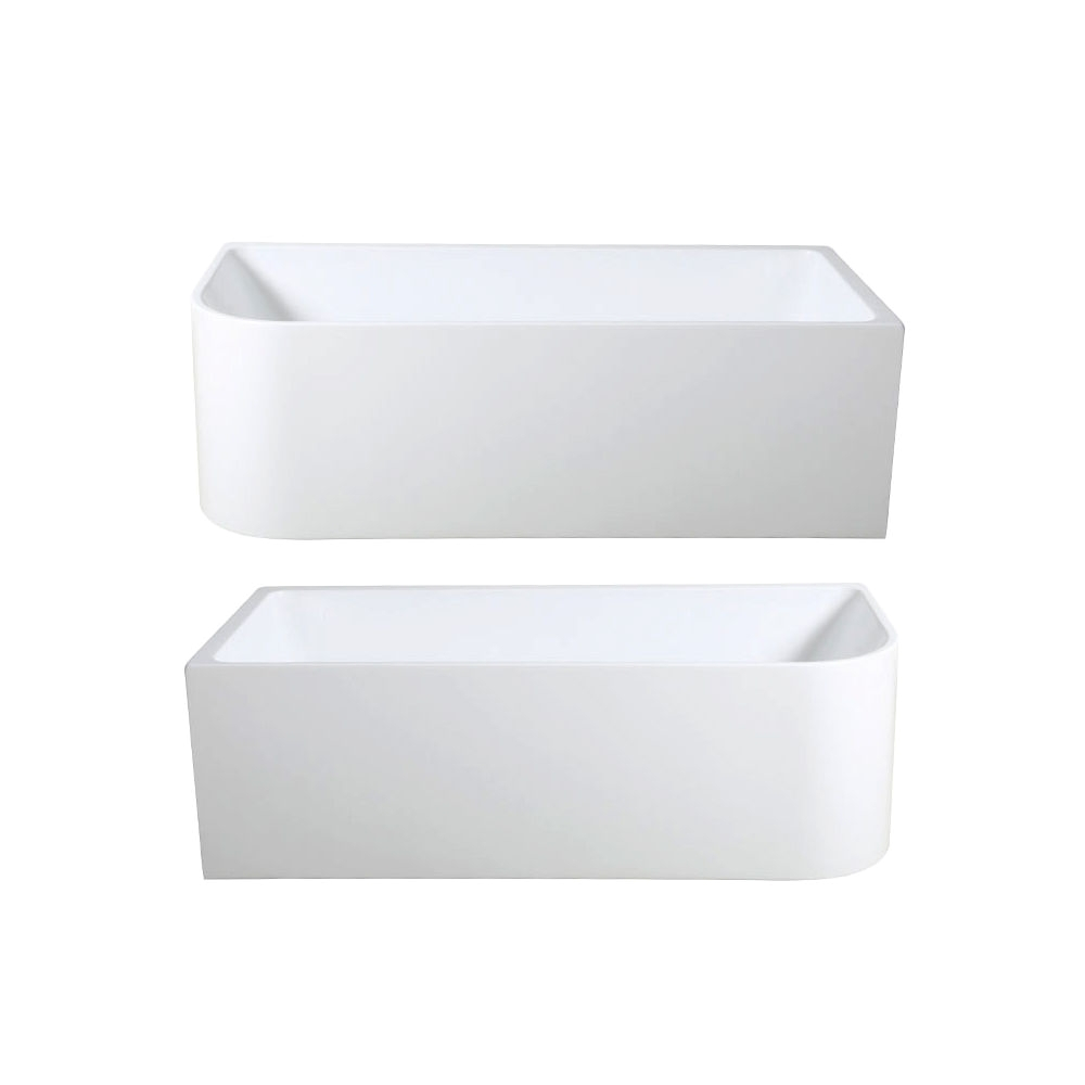miranda 1500mm 1700mm back to wall corner freestanding high grade acrylic bath