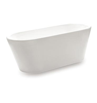 forme oval slim freestanding acrylic bath