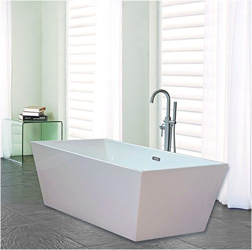 sale narrow edge portable acrylic freestanding bathtub with end drain lightweight