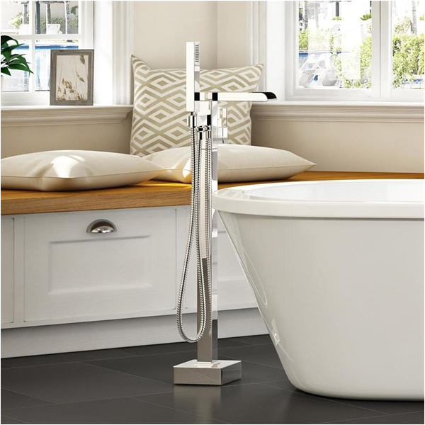 Freestanding Bathtub Faucets Canada Ove Decors Infinity Chrome 1 Handle Adjustable
