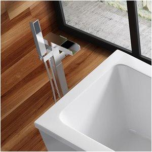 ove decors infinity chrome 1 handle adjustable freestanding bathtub faucet