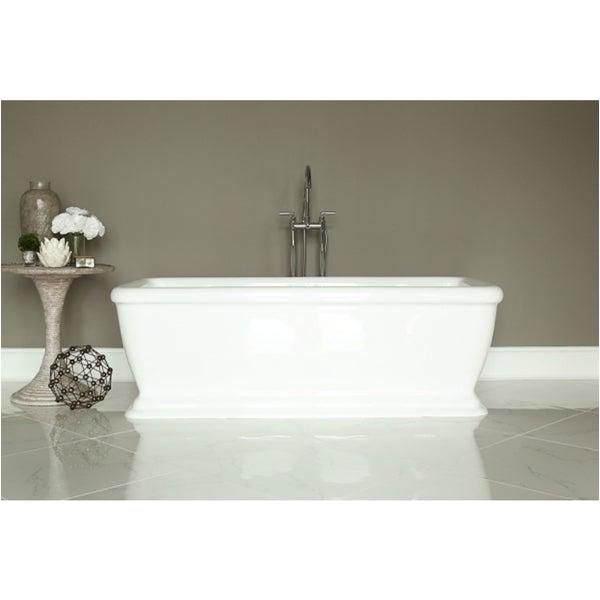 Freestanding Bathtub for Sale Shop Signature White Acrylic Freestanding Bath Tub Free
