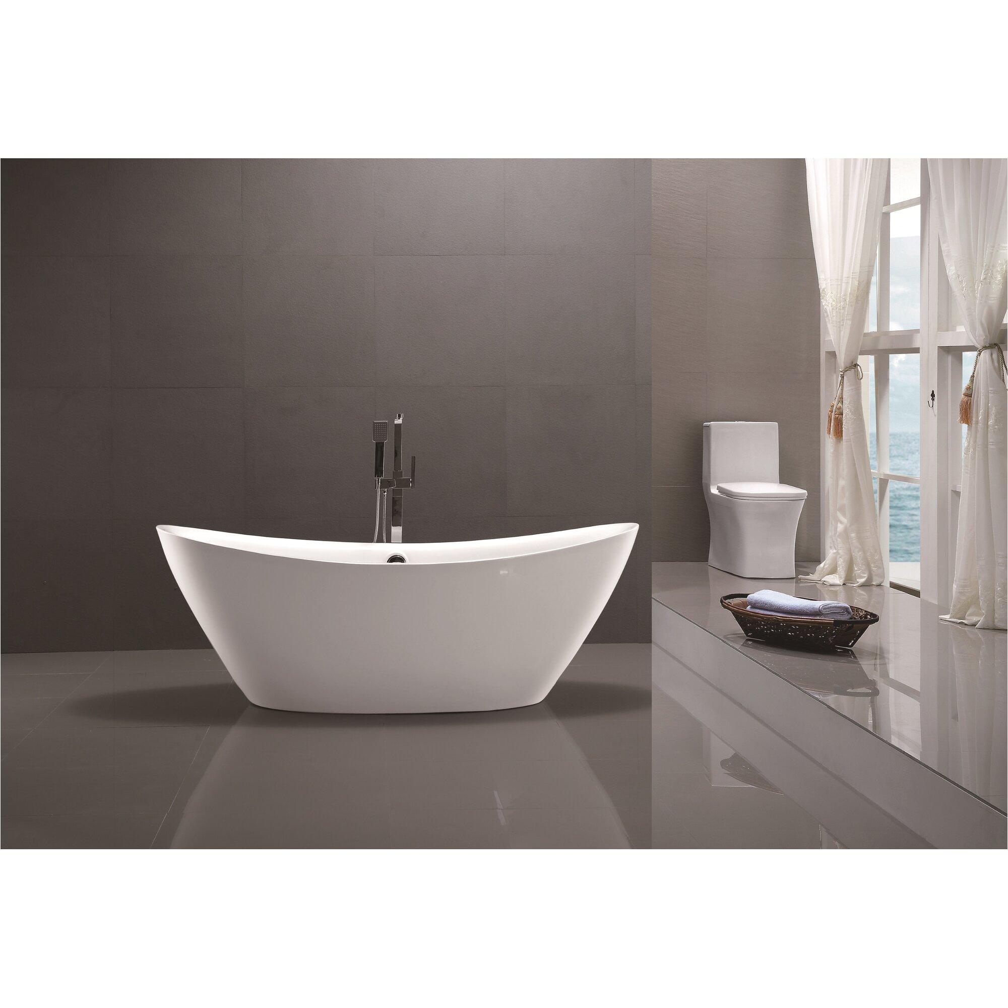 Vanity Art 71 x 34 Freestanding Soaking Bathtub VNAR1024