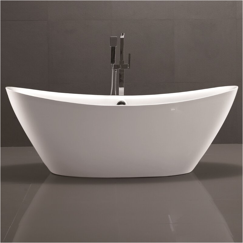 "Freestanding Bathtub for Two Vanity Art 71"" X 34"" Freestanding soaking Bathtub"