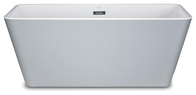 Kokss Garda 60 Gray Freestanding Modern Seamless Acrylic Bathtub contemporary bathtubs redirect= 1