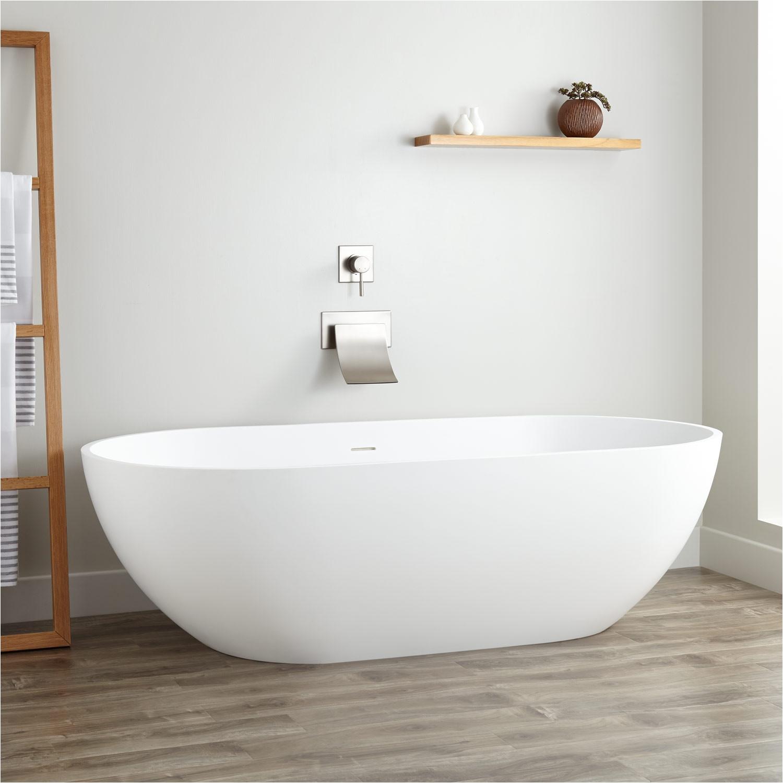"Freestanding Bathtub Hardware 70"" Eira Resin Freestanding Tub Bathroom"