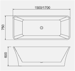 bt166 freestanding bathtub