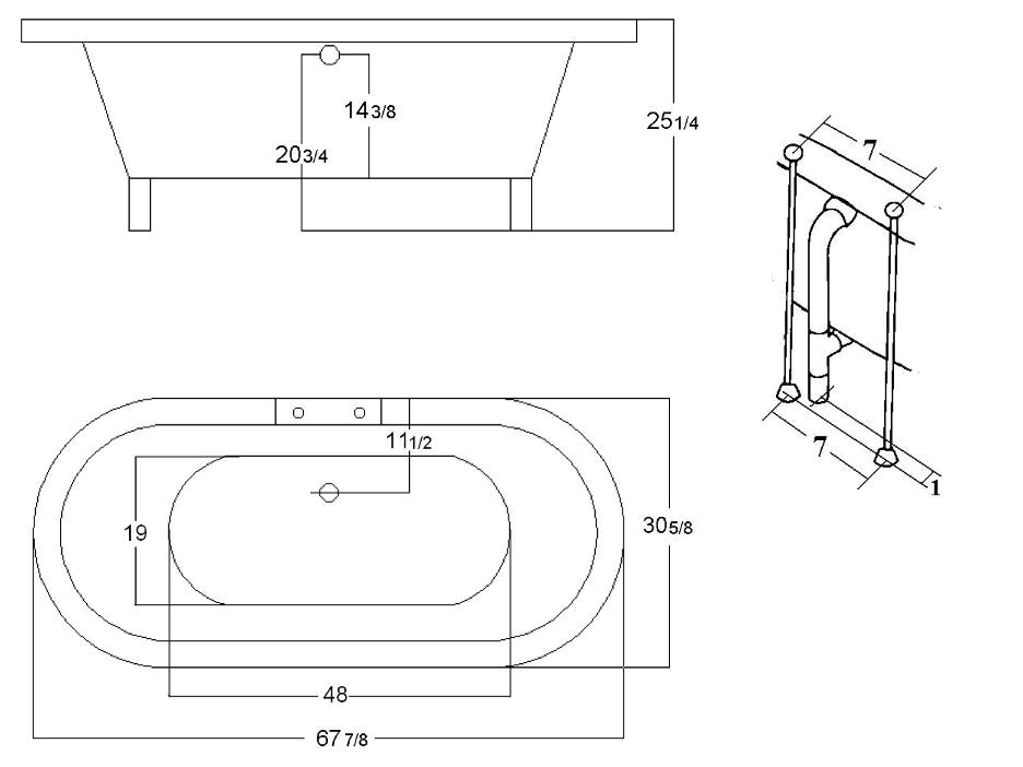 pompano freestanding bathtub
