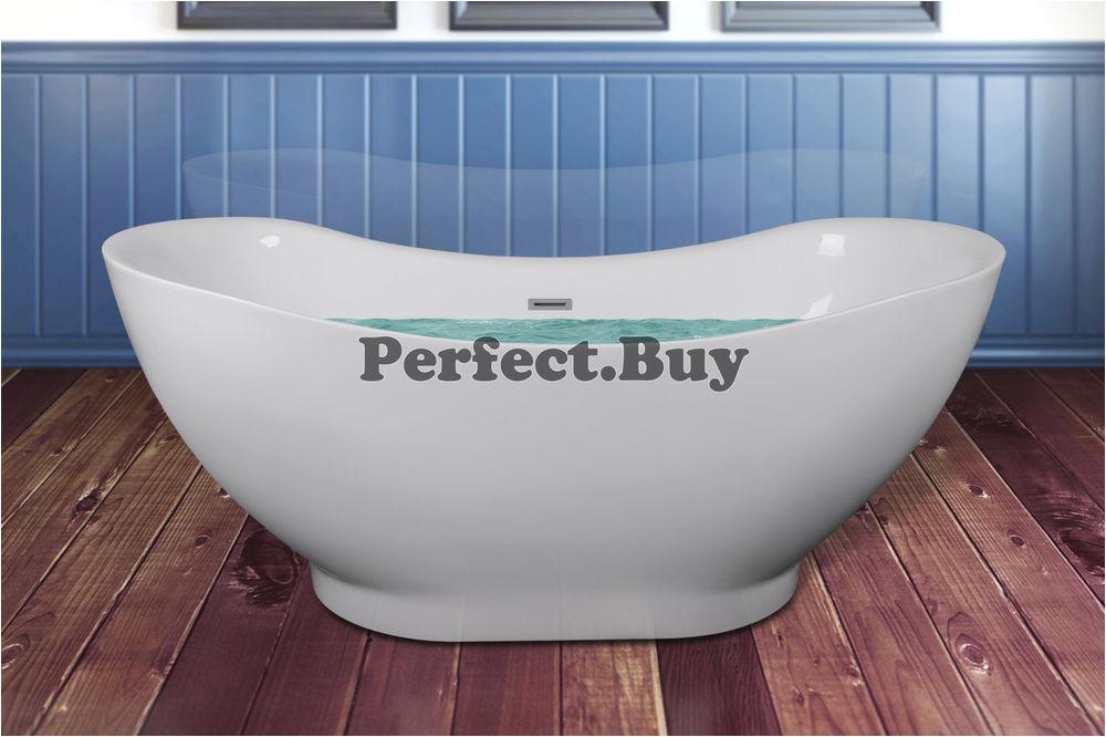 "Freestanding Bathtub No Overflow 67"" Acrylic Bathtub Freestanding Bathroom Shower Spa"