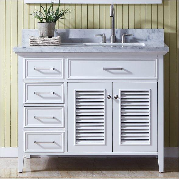 right offset sink vanity