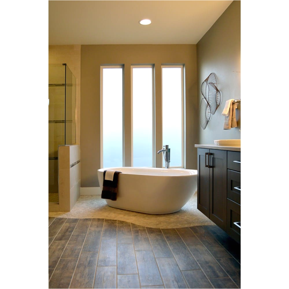 "Freestanding Bathtub P Trap Melissa 65"" soaking Bathtub by Wyndham Collection"