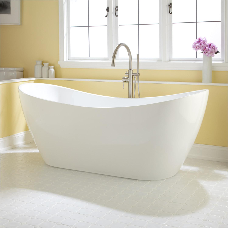 72 sheba double slipper freestanding acrylic tub
