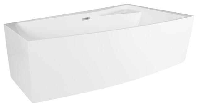 "Freestanding Bathtub Rectangular Encino 70"" Rectangular Freestanding Bathtub with Corner"