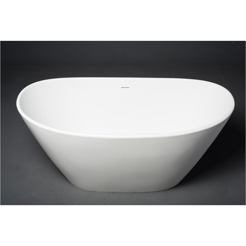 aquatica purescape 748m matte freestanding solid surface bathtub matte white aquatica spc ps748m wht