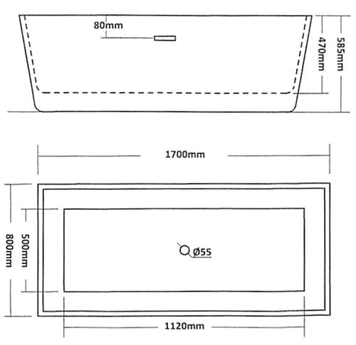 Freestanding Bathtub Sizes Ly £640