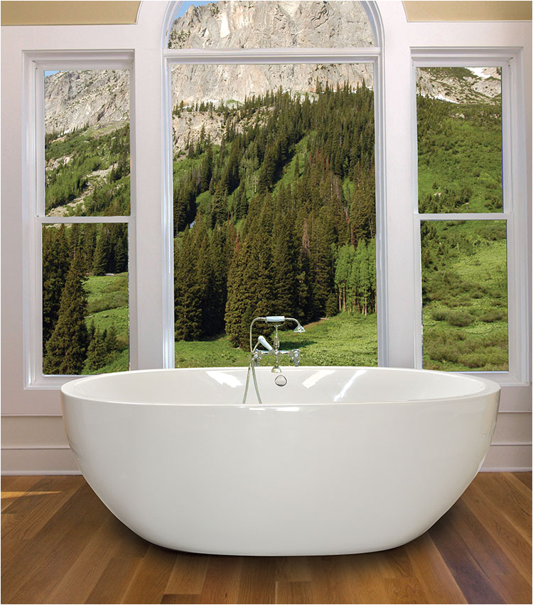 """Freestanding Bathtub Stores Near Me Oasis 6640 Free Standing soaker Tub Ly Size 66"""" X 40"""