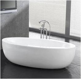 oval designer free standing bathtub