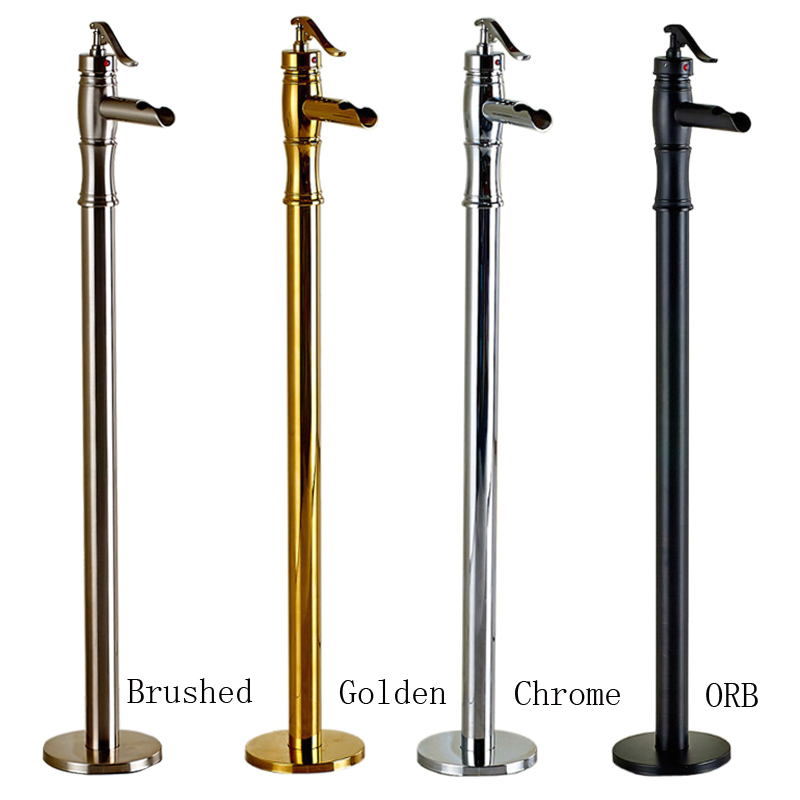 Freestanding Bathtub Taps Single Lever Freestanding Clawfoot Bathtub Faucet Set