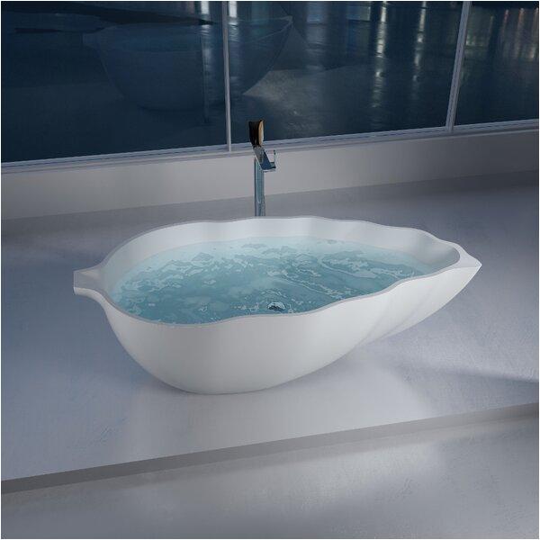 double ended pedestal 60 x 30 freestanding soaking bathtub by cambridge plumbing