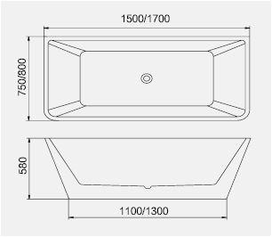 bt165 freestanding bathtub