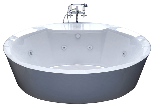 Venzi Sole 34x68 Oval Freestanding Air and Whirlpool Water Jetted Bathtub bathtubs