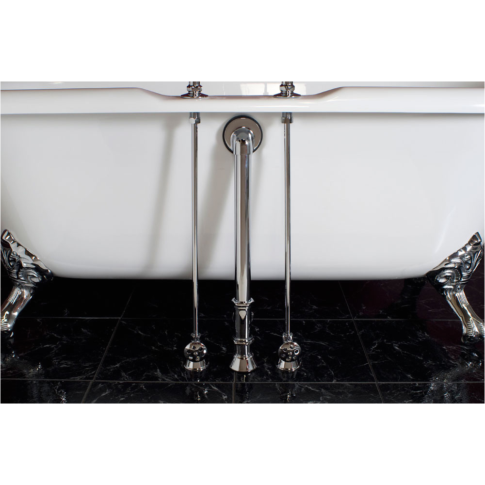 strom plumbing clawfoot tub water supply lines for deck mounted tub faucets p0675c s