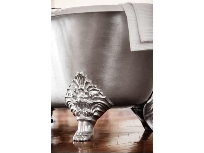 Freestanding Bathtub with Legs Freestanding Silver Leaf Bathtub On Legs Carlton Silver by