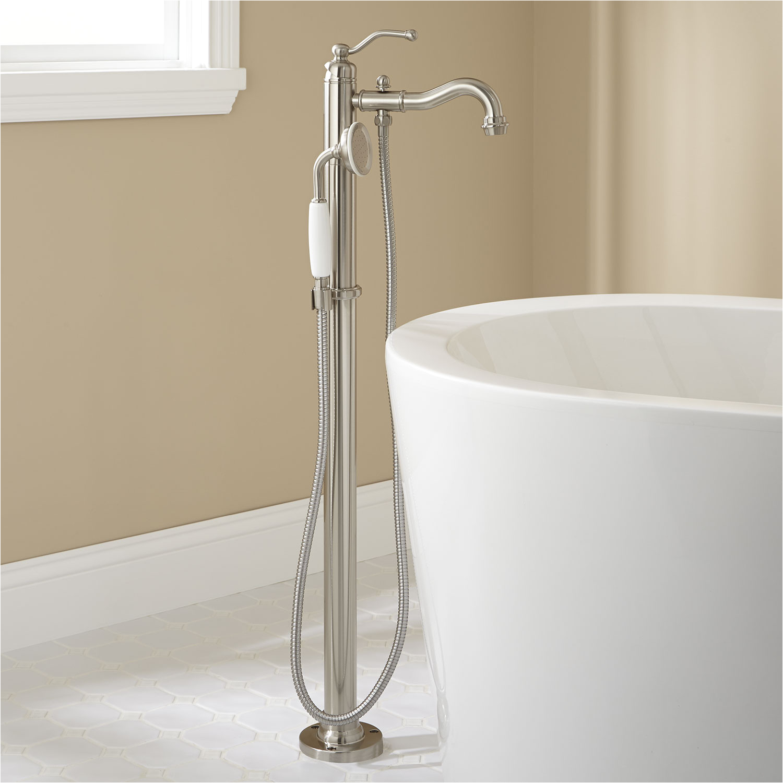 Freestanding Tub Faucet Bracket Leta Freestanding Tub Faucet with Hand Shower Bathroom