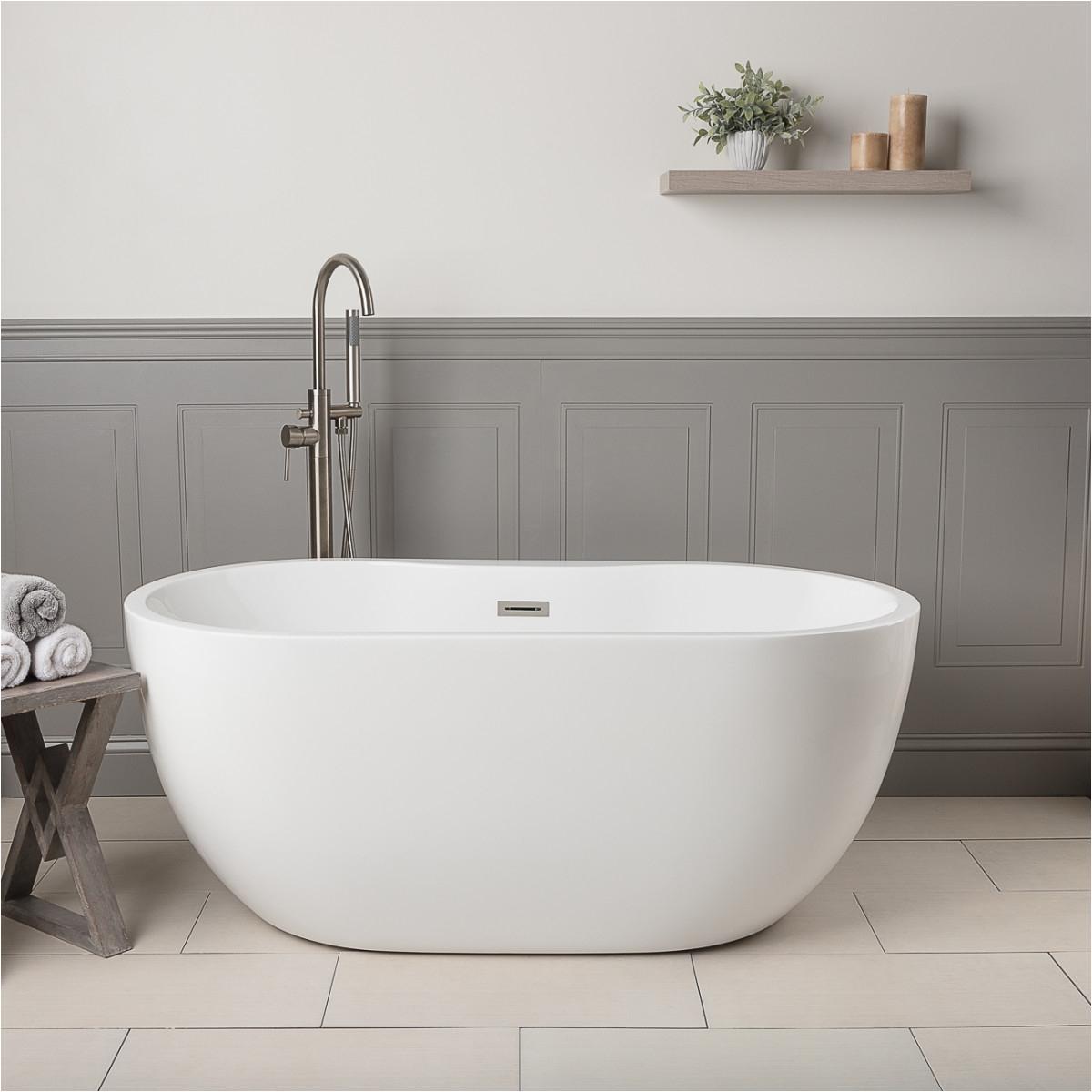 randolph morris acrylic double ended freestanding tub no faucet drillings rma hudson