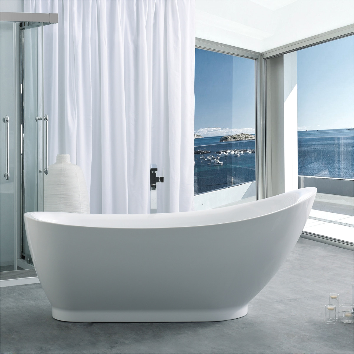 randolph morris 71 inch acrylic slipper freestanding tub no faucet drillings rmj13 s