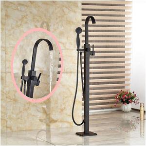 Freestanding Tub Faucet Floor Mount Floor Mount Free Standing Oil Rubbed Bronze Bathroom