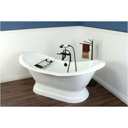 72 freestanding tub with oil rubbed bronze tub faucet hardware package ctp20