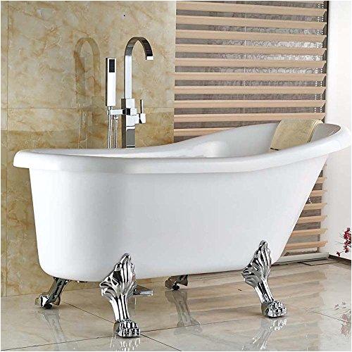 Freestanding Tub Faucet On Sale On Sale Votamuta Chrome Floor Mounted Clawfoot Bath Tub