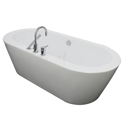 a e bath and shower una acrylic 71 all in one oval freestanding tub kit