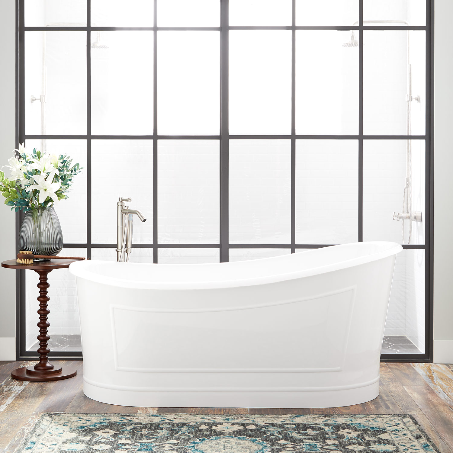 freestanding slipper tub
