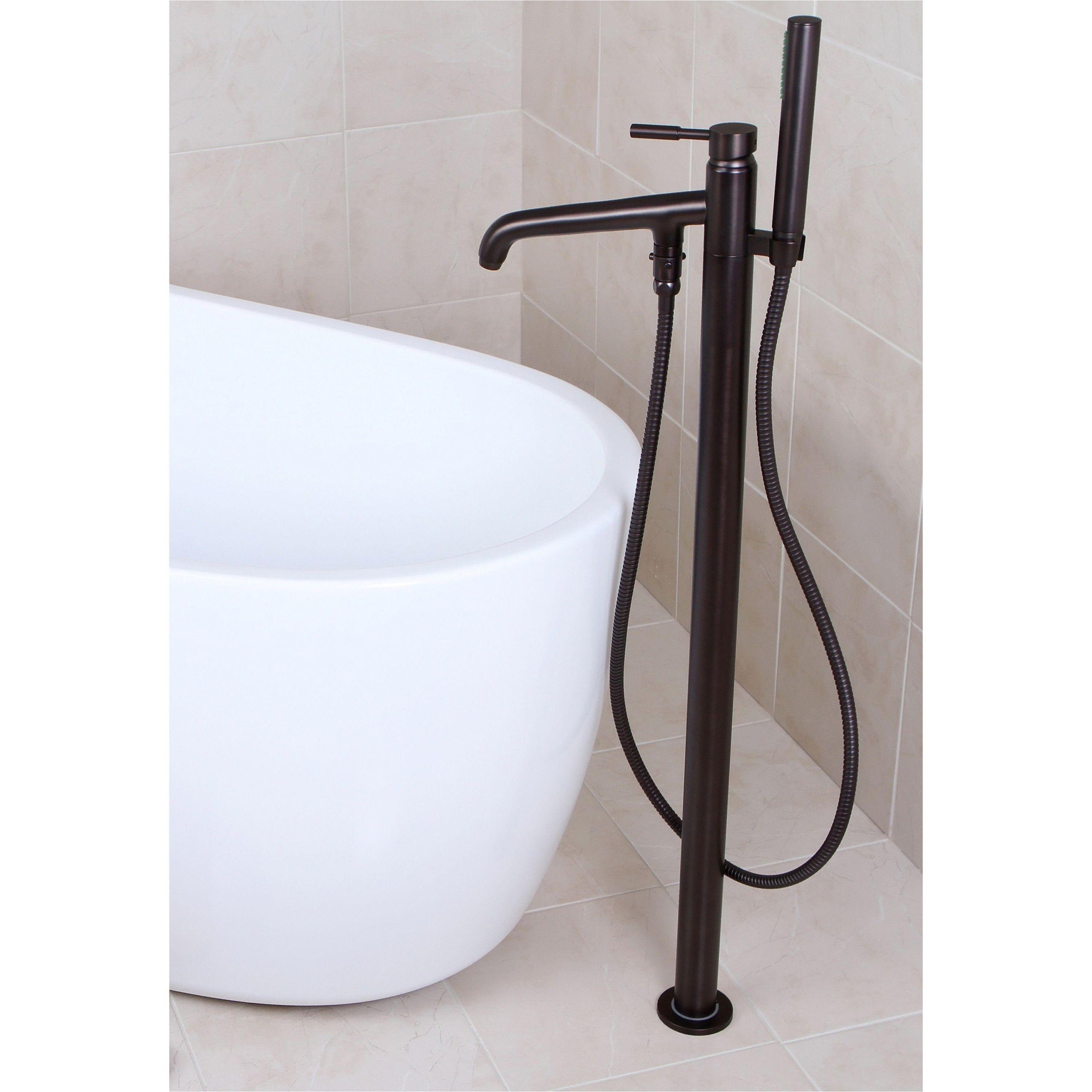 Freestanding Tub Faucets Bronze Freestanding Oil Rubbed Bronze Floor Mount Bathtub Filler