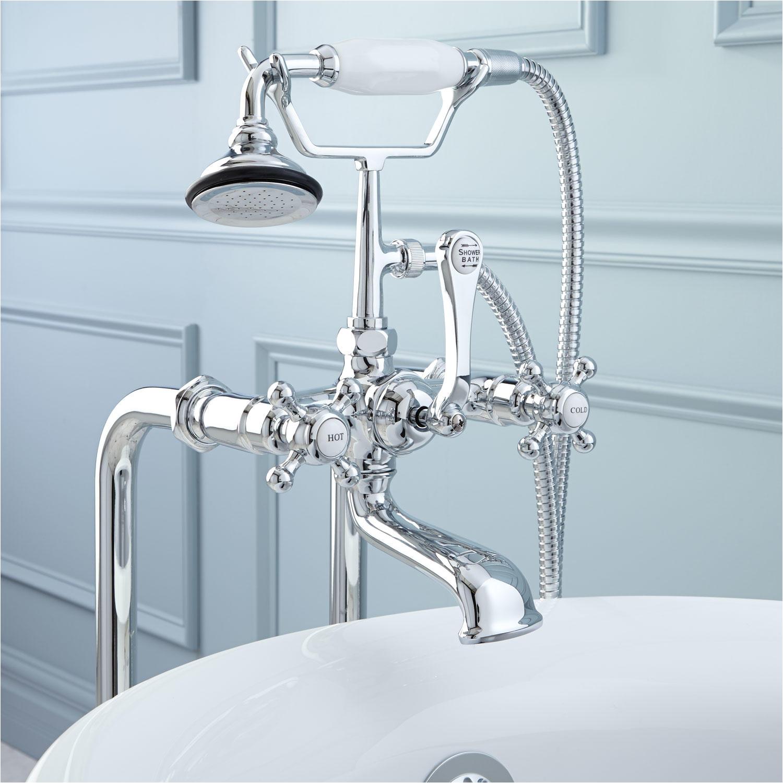 freestanding telephone tub faucet supplies valves drain contemporary cross handles