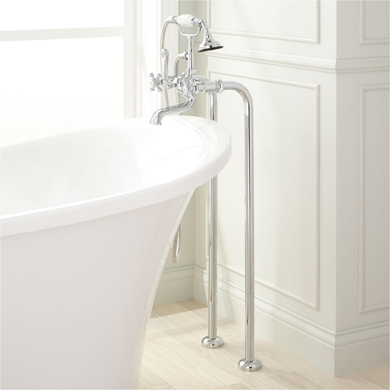freestanding telephone tub faucet supplies contemporary cross handles