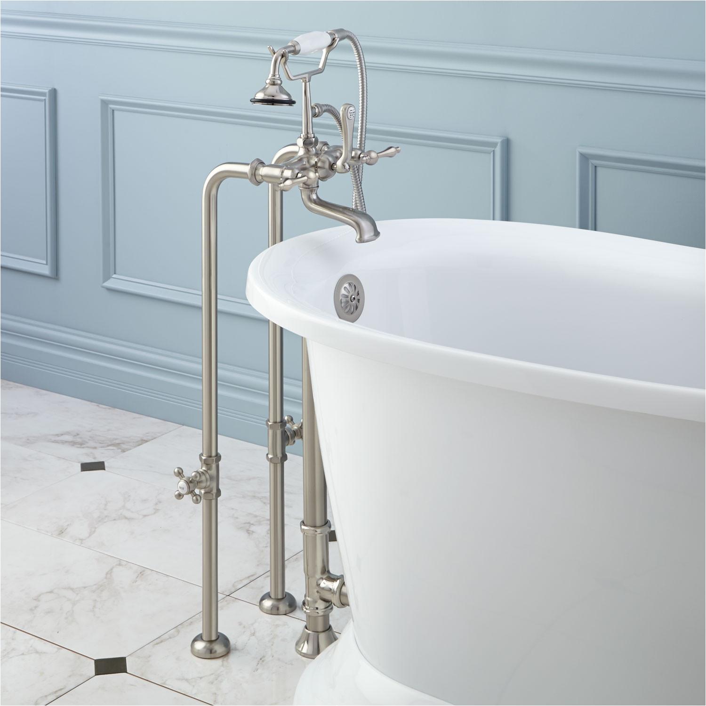 freestanding telephone tub faucet supplies valves drain lever handles