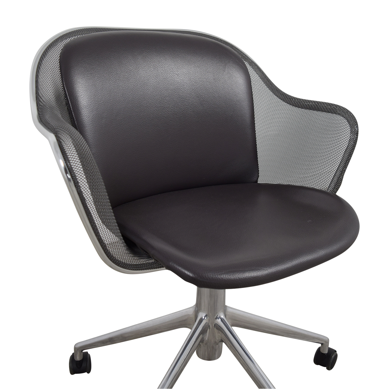b and b italia b and b italia grey leather desk chair