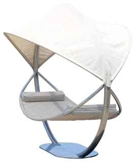 Steel Hammock Stand With Hammock and Canopy contemporary hammocks and swing chairs