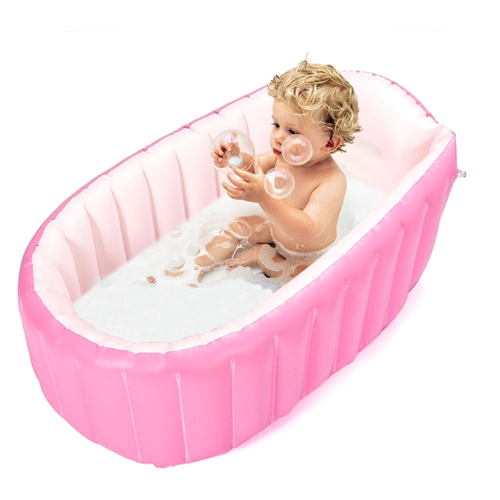 Inflatable Baby Bathtub Travel Inflatable Baby Bathtub Mini Air Swimming Pool Kid Infant