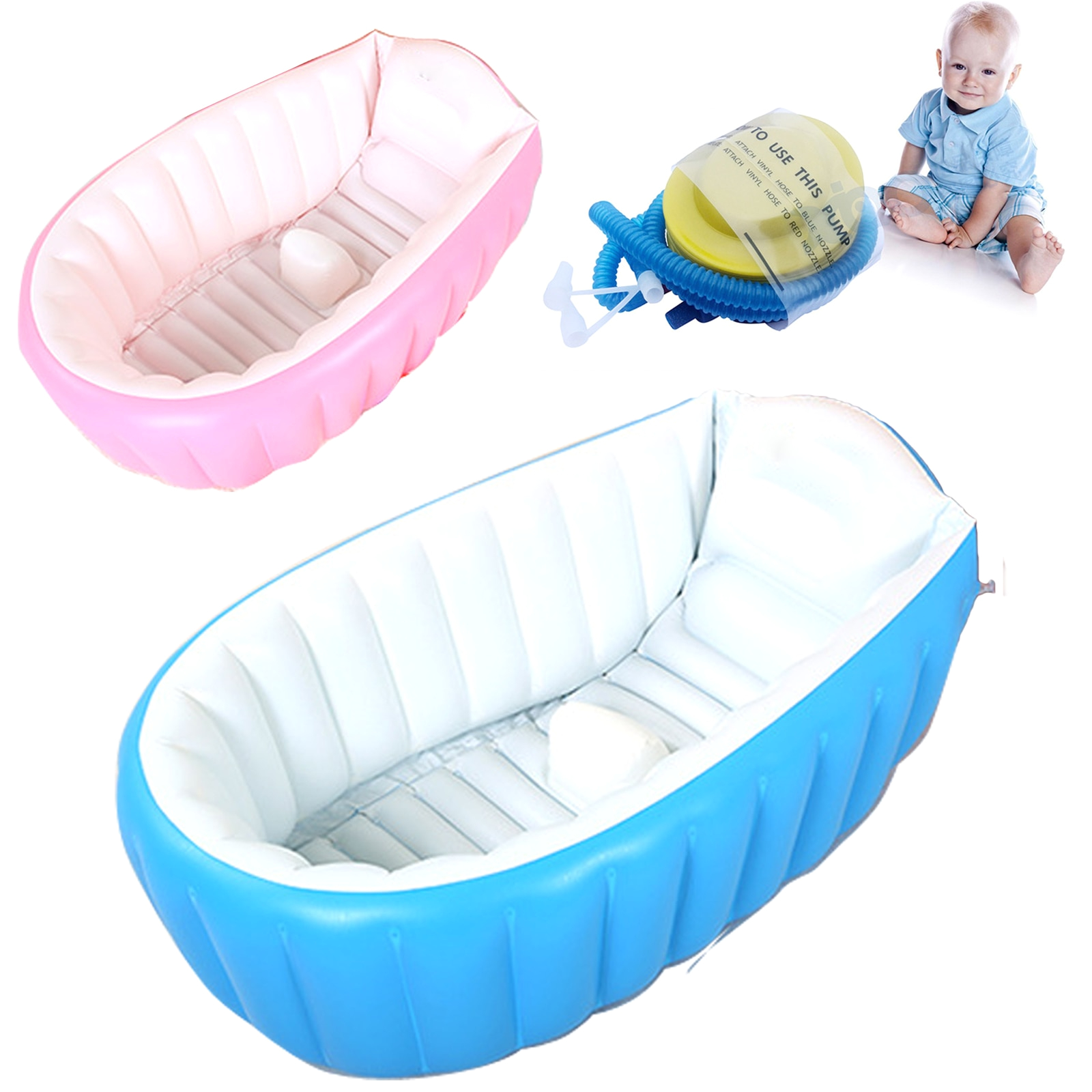 Inflatable Baby Bathtubs 2017 Real top Fashion Baby Ring Inflatable Tubs Infant