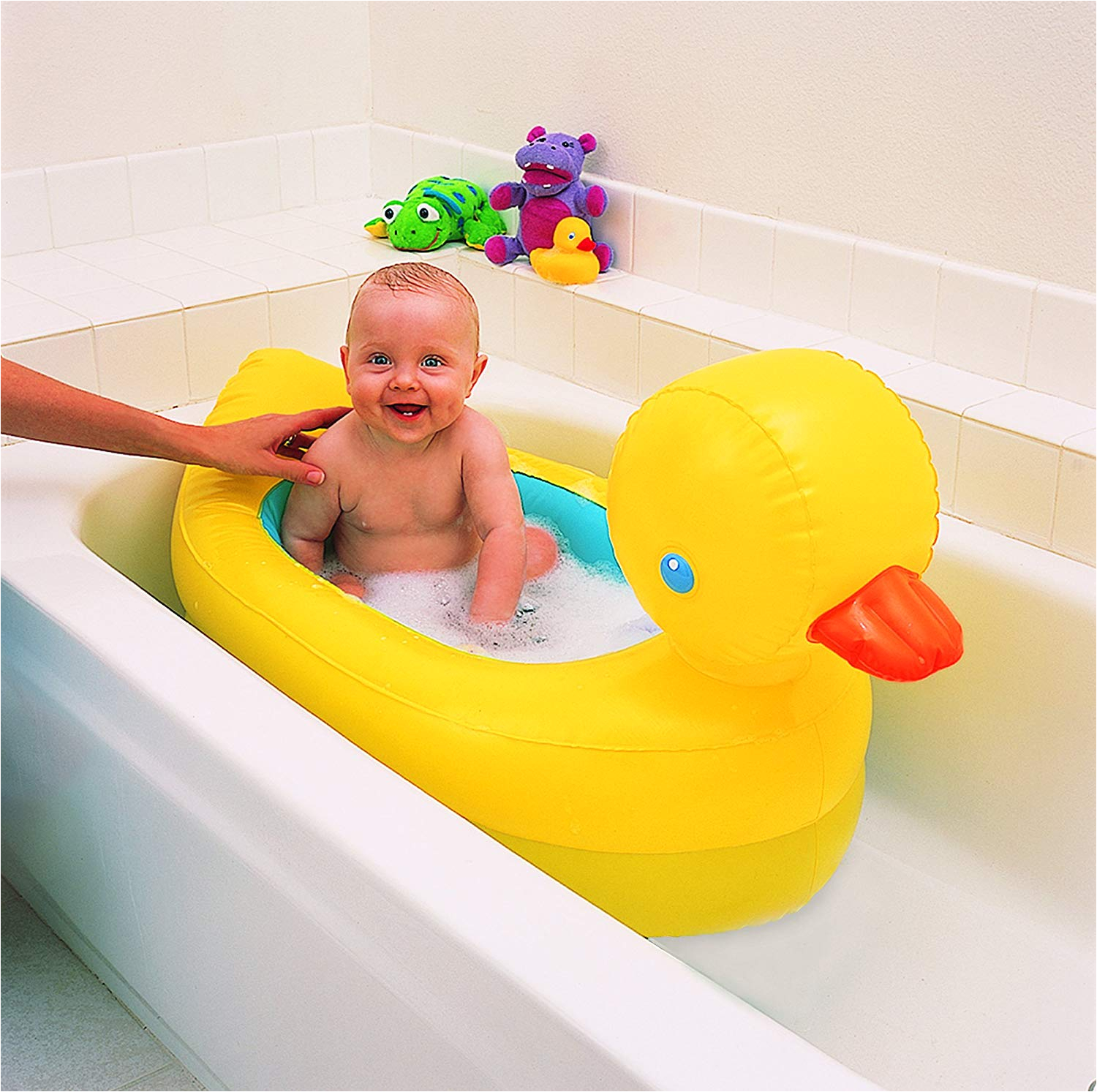 Inflatable Bathtubs for toddlers Munchkin Hot Inflatable Duck Tub Fun Baby Bath toy New
