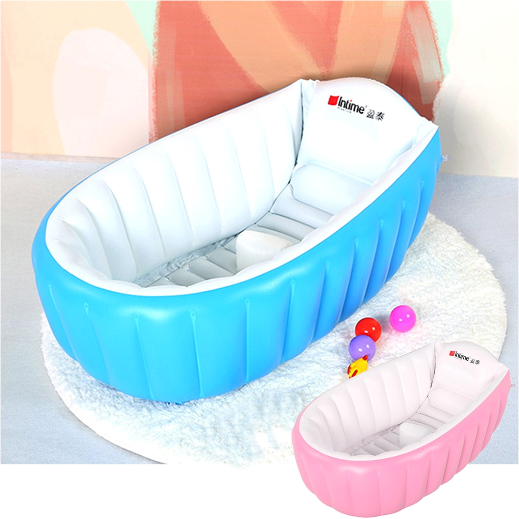 Portable Baby Infant Toddler Inflatable Bathtub Shower Basin Air Swimming Pool i