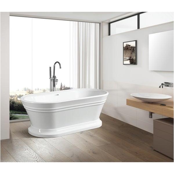 Is Acrylic Bathtubs Shop Vanity Art 59 Inch Free Standing White Acrylic